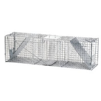 Havahart Two-Door Cage Large Raccoon Sized Trap 2 Spring Loaded Doors 42x10x13