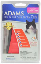 Adams Flea and Tick Spot On for Cats 5-Pound and Over with Smart Shield Applicator, 3 Month Supply