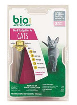 Bio-Spot Active Care Spot On with Applicator for Cats Under 5-Pound, 3 Month Supply
