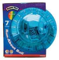 Super Pet Run-About Ball Rainbow 7in Diameter