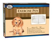 Four Paws Exercise Pen Gold Zinc Coated 8 panels 24x18