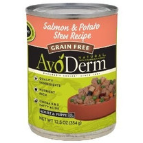 AvoDerm Grain Free Salmon and Potato Stew for Dogs, 12-1/2-Ounce, From Breeder's Choice