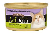 Breeder's Choice AvoDerm Natural Feline Salmon & Chicken Entree w Gravy 3oz