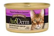 Breeder's Choice AvoDerm Natural Feline Wild By Nature Chopped Sardines 3oz