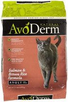AvoDerm Natural Adult Salmon Corn Free Formula Cat Food, 11-Pound