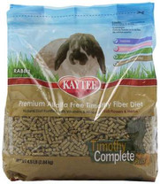 Kaytee Timothy Complete Plus Flowers and Herbs Diet for Rabbits, 4.5-Pound