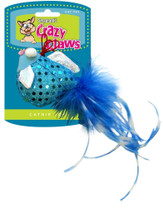 Sergeants Crazy Claws Rotational Soft Cat Toy Feather Ball