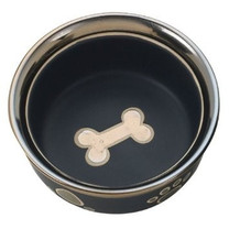 Ethical Products Spot Ritzy Copper Rim Dog Black 7in