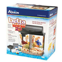 Aqueon Betta Bow Mini Bow Desktop Aquarium Kit Black 2.5gal