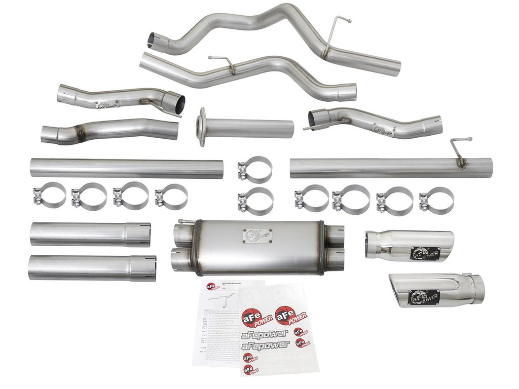 "aFe POWER 49-43045-P MACH Force-Xp 3"" 409 Stainless Steel Cat-Back Exhaust System"