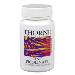 Thorne Research Zinc Picolinate 60 Veggie Caps