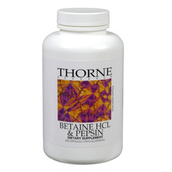 Thorne Research Betaine HCL & Pepsin 225 Veggie Caps