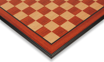 "Padauk & Maple Molded Edge Chess Board - 2.125"" Squares"