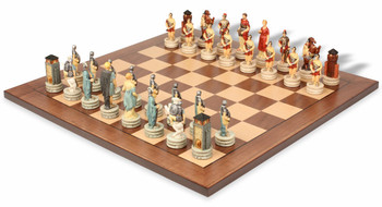 Rome and Greece Theme Chess Set Package