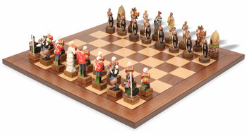 British and Zulu Theme Chess Set Package