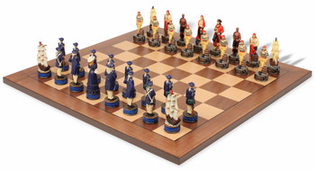 Pirates and Royal Navy Theme Chess Set Package