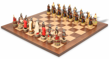 Russians and Mongols Theme Chess Set Package