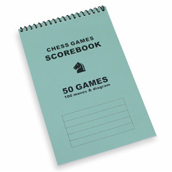 50 Games Blue Chess Score Book