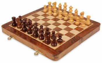 "Folding Magnetic Travel Chess Set - 10"""