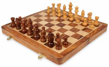 "Folding Magnetic Travel Chess Set - 14"""
