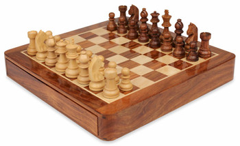 Magnetic Travel Chess Set with Drawer - 12""