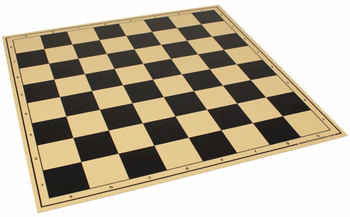 "The Chess Store Premium Vinyl Rollup Chess Board Black - 2.25"" Squares"