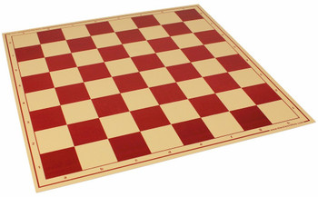 "The Chess Store Premium Vinyl Rollup Chess Board Red - 2.25"" Squares"