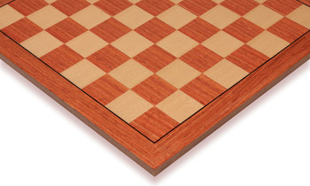 """Rosewood & Maple Standard Chess Board - 1.5"""" Squares"""