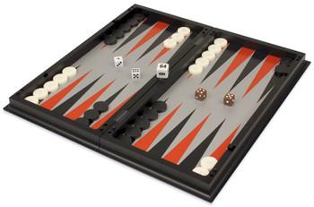 "Backgammon, Chess, & Checkers Folding Magnetic Travel Set - 12.5"""