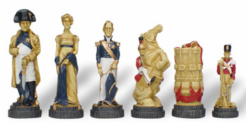 Battle of Waterloo Hand Decorated Theme Chess Set