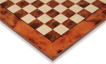 """Elm Root & Maple Chess Board - 1.125"""" Squares"""