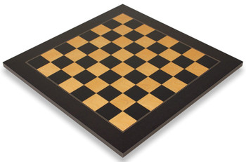 "Black & Ash Burl High Gloss Deluxe Chess Board 2.375"" Squares"