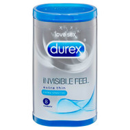 Durex Invisible Feel Extra Sensitive Condoms (8) RETAIL PACK