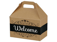 Welcome Kraft Stripes Gable Box
