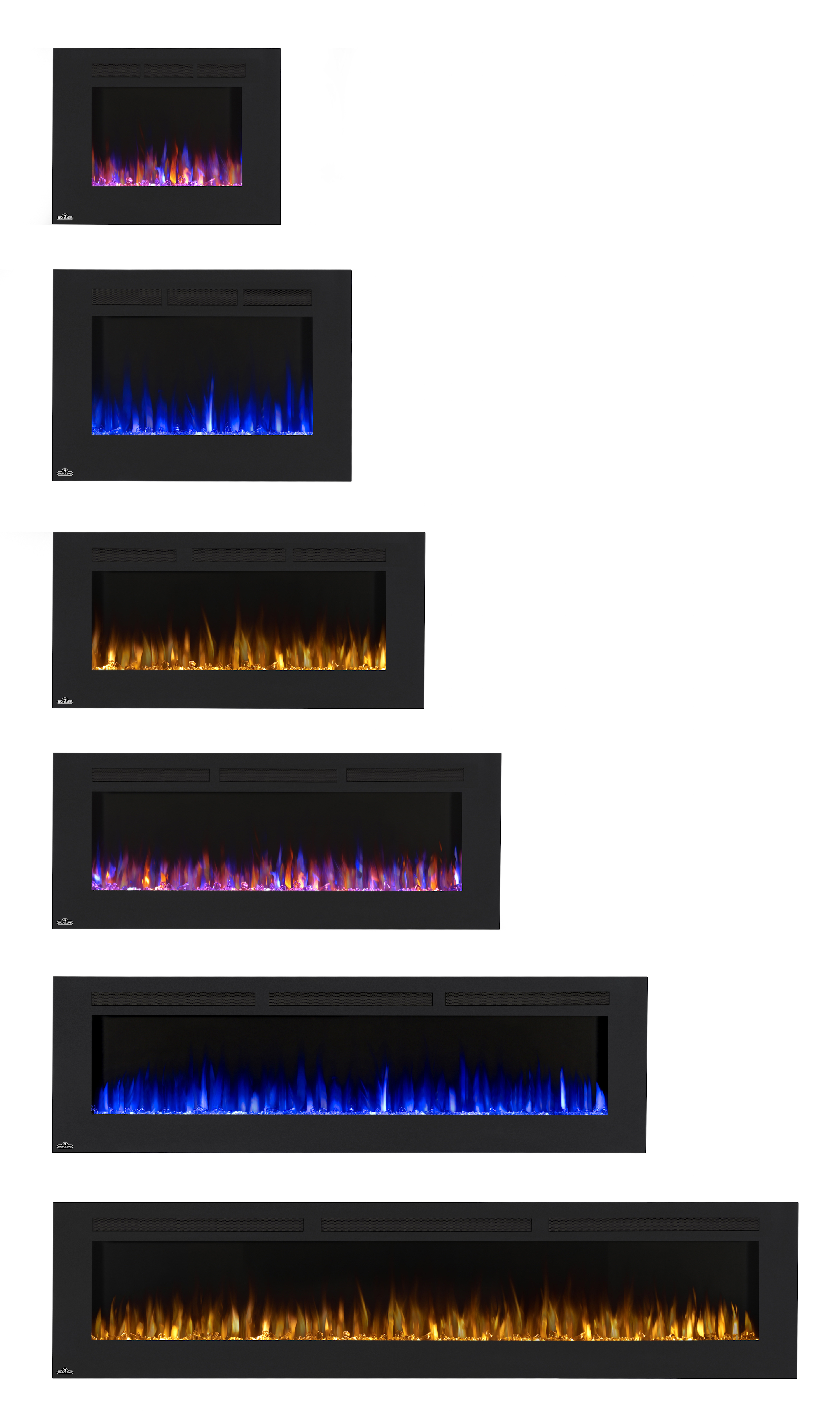 napoleon allure series electric fireplace nefl embers
