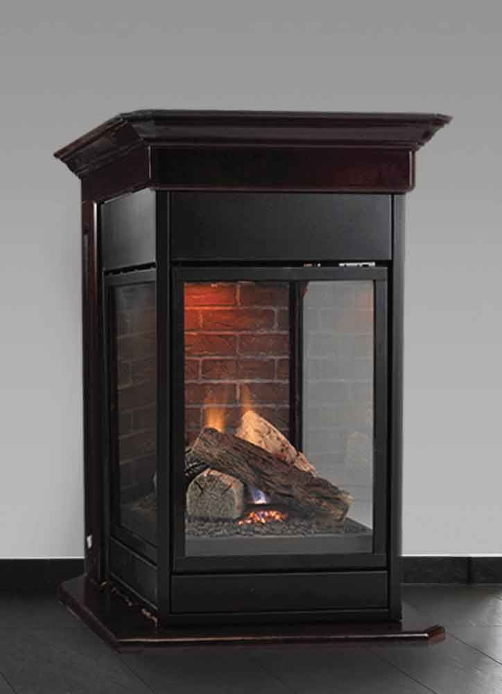 Gas Fireplace peninsula gas fireplace : Majestic Pearl Peninsula 36 Gas Fireplace - PFLDV - Embers ...