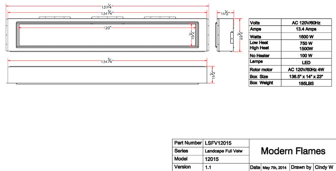 LFV120 Specs