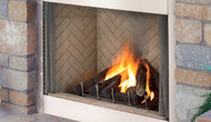 """Superior 36"""" Stainless Steel Outdoor Gas Fireplace, Front Open"""