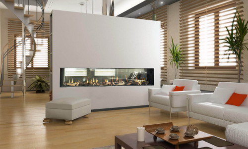 Flare See Through Modern Linear Fireplace - Embers Fireplaces ...