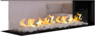 Flare Room Definer Peninsula Linear Fireplace