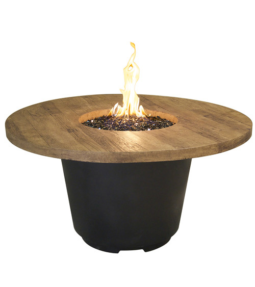 American Fyre Designs French Barrel Oak Cosmo Round Firetable