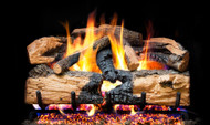 Realfyre Charred Evergreen Split Oak Gas Logs with G52 Radiant Fyre System