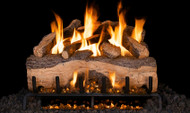 Realfyre Mountain Crest Split Oak Gas Logs with G31 3-Tiered Burner System