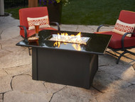 Outdoor Greatroom Black Grandstone Rectangular Gas Fire Pit Table