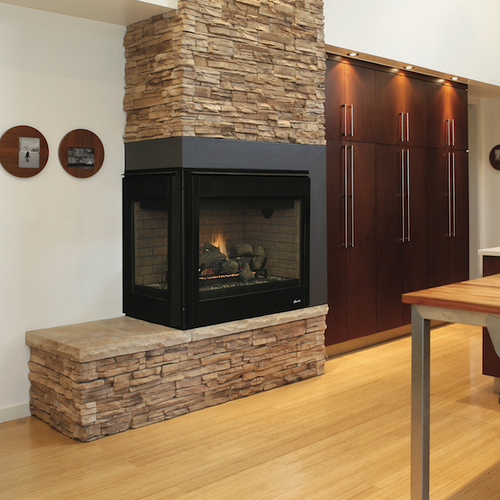 Superior DRT40CL/R Corner Fireplaces - Direct Vent