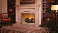 "Superior 50"" Vent-Free Masonry Fireboxes -  Warm Red/Ivory Herringbone Brick"