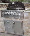 Primo Oval G 420 Gas Grill Head - built in shown with storage drawers