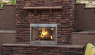 "Superior Purefire 36"" Paneled Outdoor Wood-Burning Fireplace - White Herringbone Refractory Panels"