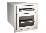 Firemagic Premium Flush Mounted Black Diamond Double Drawer with Soft Close System - 53802HSC