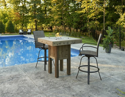 Outdoor Greatroom Westport Square Pub Height Gas Fire Pit Table - Pub height fire pit table